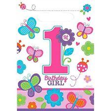 Amscan Partytüten mit Blümchenmotiv Zum 1. Geburtstag für Mädchen