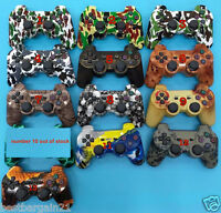 NEW URBAN CAMOUFLAGE BLUETOOTH WIRELESS JOYSTICK GAME PAD PS3 CONTROLLER CABLE