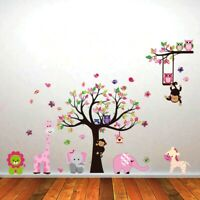 Monkey Wall Stickers Animal Jungle Zoo Lion Nursery Baby Kids Bedroom Decal Art