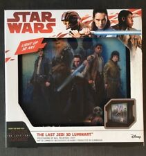 Rare Star Wars LUMINART The Last Jedi Light-up 3D Artwork Unusual Gift Geek Box