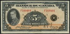 "CANADA #BC-6 $5 1935 SERIES BANQUE DUE CANADA ""FRENCH"" XF CV $2,000 WLM4425"