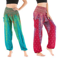 Women Harem Pants Hippie Thai Elephant Baggy Boho Ladies Trousers Ali Yoga Beach