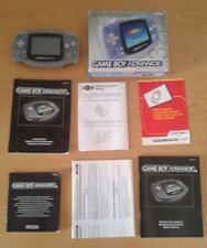 NINTENDO GAME BOY ADVANCE TRANSPARENTE AGB-001 COMPLETA EN CAJA CIB BOXED PAL!!!
