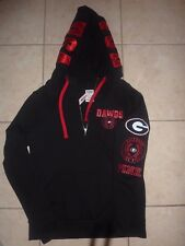 "VICTORIAS SECRET PINK GEORGIA ""BULLDOGS"" ""DAWGS""  ""PINK"" 1/4 ZIP HOODIE NWT"