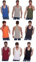 Hommes Uni 100% Coton Muscle Débardeur Dos ~ Gym, Musculation, Dos Nageur