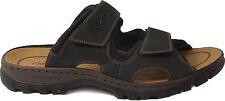 RIEKER Schuhe Pantoletten Hausschuhe  Latschen schwarz Klettverschluss NEU