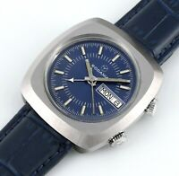 Rare Vintage RODANIA Day Date Alarm AS 5008 Automatic Swiss Mens Wrist Watch