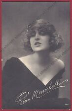 PINA MENICHELLI 24 ATTRICE ACTRESS CINEMA MUTO SILENT MOVIE - CASTROREALE 1922