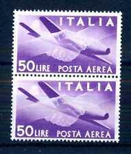 """ITALIA REP. - PA - 1947 - Serie """"Democratica"""" - Filigr. Ruota  - 50 L. - X108"""