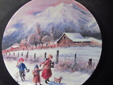 Knowles Nature's Child 1990 Hand In Hand Kids Going to School Ltd Ed Plate