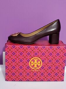 New Tory Burch Benton leather  Pump MALBEC women shoes sz 7.5 mother day gift