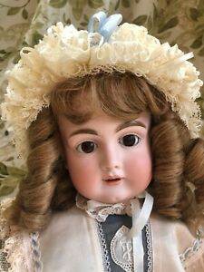 Pretty 23 in KESTNER 167 antique bisque doll EUC Vintage outfit Susan Hitzel hat