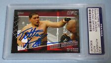 """Rampage Jackson Signed UFC 2010 Topps """"Titties"""" Darrill Schoonover Card PSA/DNA"""