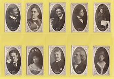 MUSIC - WILLS AUSTRALIA - SCARCE SET OF 50 MUSIC HALL CHARACTERS CARDS  -  1904