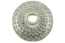 Tuchhalter,Magnet,Brosche aus Edelstahl.20mm einfarbig mit Struktur topas//braun