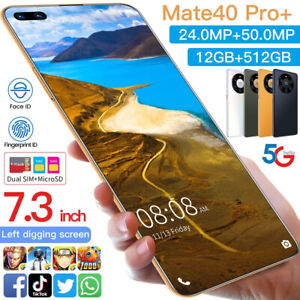 """Global Version HUA W 7.3"""" Mate40 Pro+ Phone 12GBRAM 512GB Android 10.0 DecaCore"""
