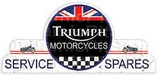 65x30cm Triumph Motorcycles Shield Tin Sign