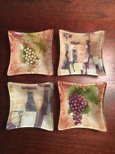 Susan Wingate The Studio Shop Set Of 4 Decorative Glass Bowls /candy Nut Dishes