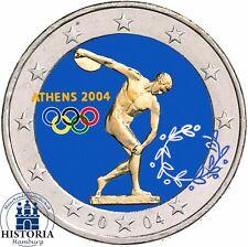 Griechenland 2 Euro Münze Olympische Spiele 2004 in Athen Gedenkmünze in Farbe