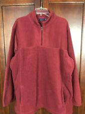 Croft & Barrow Mens Fleec Half Zip Jacket Burgendy Size XL