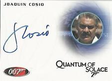 """James Bond Heroes & Villains - A146 Joaquin Cosio """"Gen Medrano"""" Autograph Card"""
