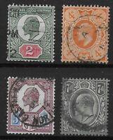 KEVII Small Group-FU-Fresh Colours-2d.,4d Orange.,5d.& 7d. Cat.£80+  Ref.0966