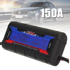150A DC Digital Monitor LCD Volt Amp Watt Meter RC Battery Solar Power Analyser