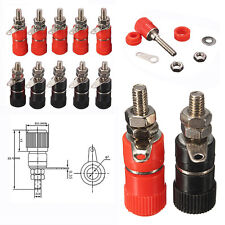 10PCS Red + Black 4mm Banana socket Binding Post Nut Banana plug jack connector