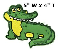 Alligator Logo Iron On Patch Embroidered Sew On Applique Badge For Clothing