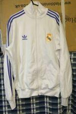 Classic ADIDAS REAL MADRID Mens White Tracksuit Top Jacket - Size  50 Medium
