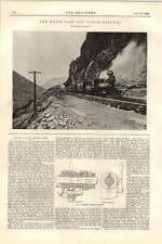1899 White Pass And Yukon Railway Illustration Critical Cross Turret Lathe