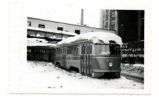 Trolley Photo Brooklyn PCC's Stalled By Blizzard Jay St 7 Mytyle Ave  Xmas 1947