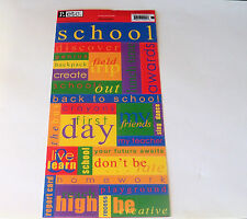 Pebbles Inc Cardstock Stickers~School Sampler~Words Related To School~NOOP