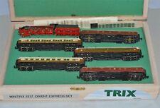 N Scale minitrix 1017 Orient Express Train Set in Custom Wooden Case