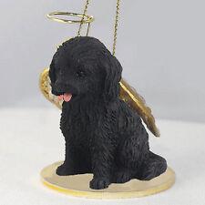 Cockapoo Ornament Angel Figurine Hand Painted Black