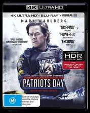 Patriots Day UHD 4K Blu-ray Region B New!