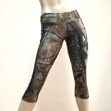 Plus size Camo Pants Low Rise Capri Hot Yoga Workout SXYFitness HANDMADE IN USA
