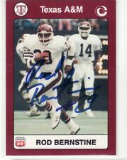 ROD BERNSTINE TEXAS A&M UNIVERSITY AUTOGRAPHED CARD RARE HARD TO FIND