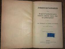 Antique Germans anti masonic book freimaurerei sozialdemokratie