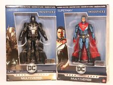 DC Multiverse Injustice 2 Superman & Batman Metal Platinum Collection NEW Mattel