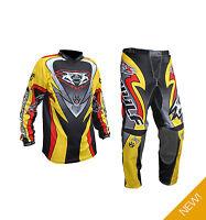 Wulfsport Adults Attack MX Motocross Enduro Off Road Pant + Jersey Set - Yellow