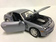 "2003 Chrysler Crossfire Collectibles 1:24 Scale, 7"" Diecast By MotorMax Toy Gray"