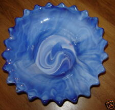 VINTAGE MURANO ART SWIRLED Glass BOWL SIGNED A.D.R.