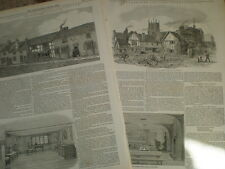 Shakespeare and Stratford Upon Avon 1847 old prints ref S