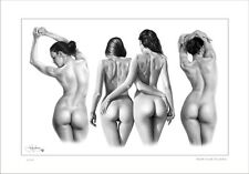 NUDE FEMALE REAR STUDIES DRAWING LIMITED EDITION