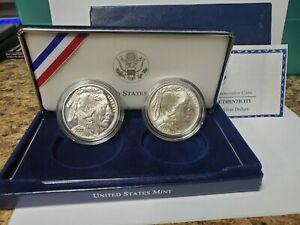 2001 American Buffalo Commemorative Dollar 2 Coin Set