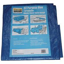 Blue tarp 4mil, 12X18ft, general use, camping, cover, boat, ATV (RDTP1218)