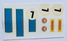 Calcas Porsche 917 nº 7 Rojo Exin Scalextric, Triang, Avant Slot Barniz original