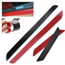 4x Car Anti Scratch Carbon Fiber Door Sill Scuff Plates Protect Guard Cover Trim