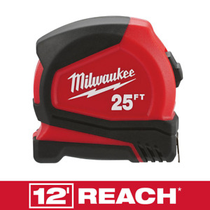 Milwaukee Compact 25ft Magnetic Tape Measure